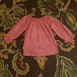 peek red mixed color boho shirt large 8